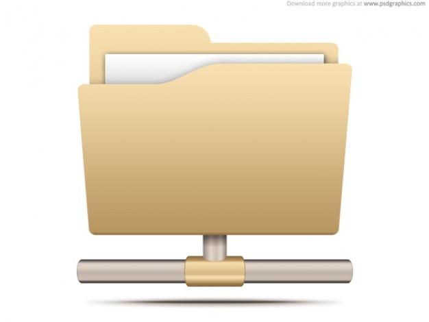 Het delen van bestanden pictogram (psd)