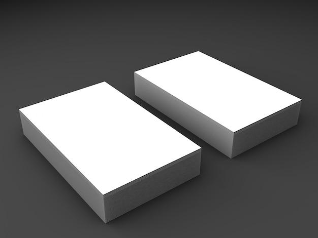 Het elegante realistische model van de visitekaartjesstapel