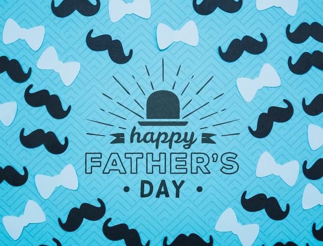 het gelukkige model van het vaderdagconcept