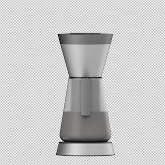 Het isometrische koffiemachine 3d geïsoleerde teruggeven