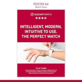 Het perfecte horloge poster sjabloon