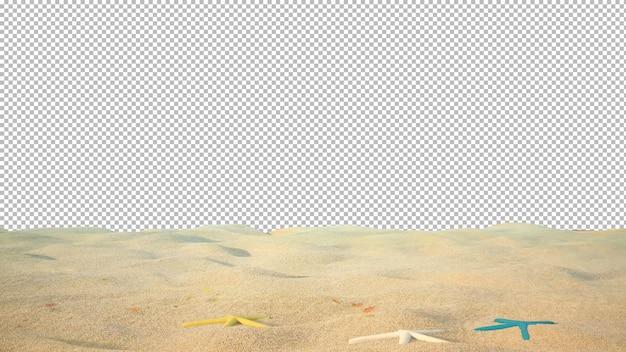 Het strand in de zomer met geïsoleerde achtergrond