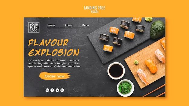 Het thema van de sushi-bestemmingspagina