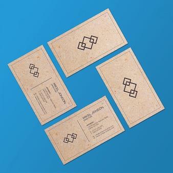 Het visitekaartje van het pakpapier