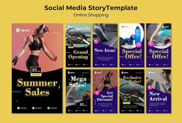 Historia de compras en redes sociales