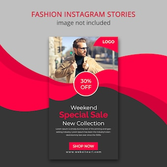 Historia de instagram de moda