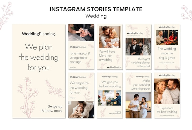Historias de bodas en instagram