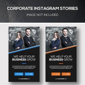 Historias corporativas de instagram
