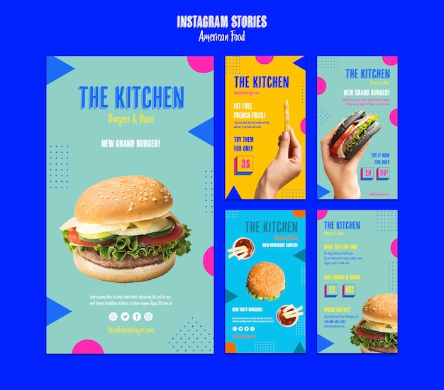 Historias de instagram comida americana