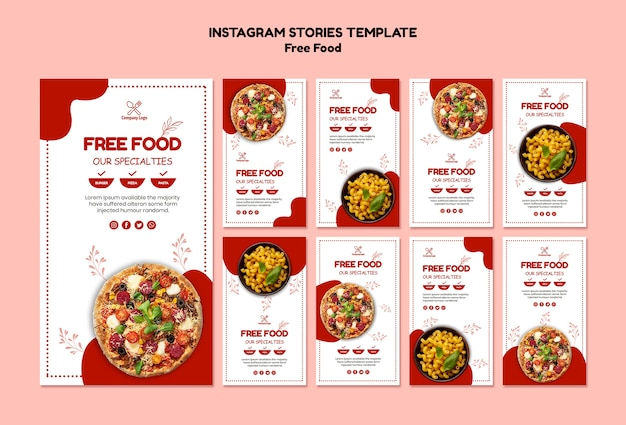 Historias de instagram de comida gratis