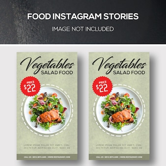 Historias de instagram de comida
