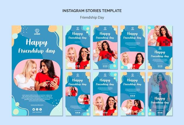 Historias de instagram del día de la amistad