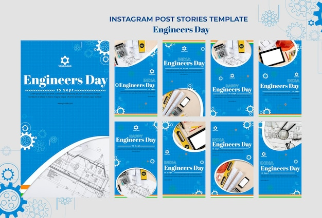 Historias de instagram del día del ingeniero