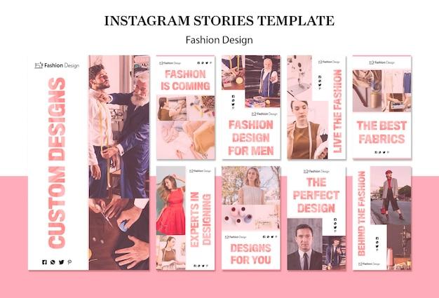 Historias de instagram de diseño de moda