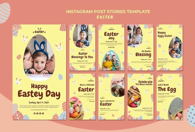 Historias de instagram de feliz día de pascua