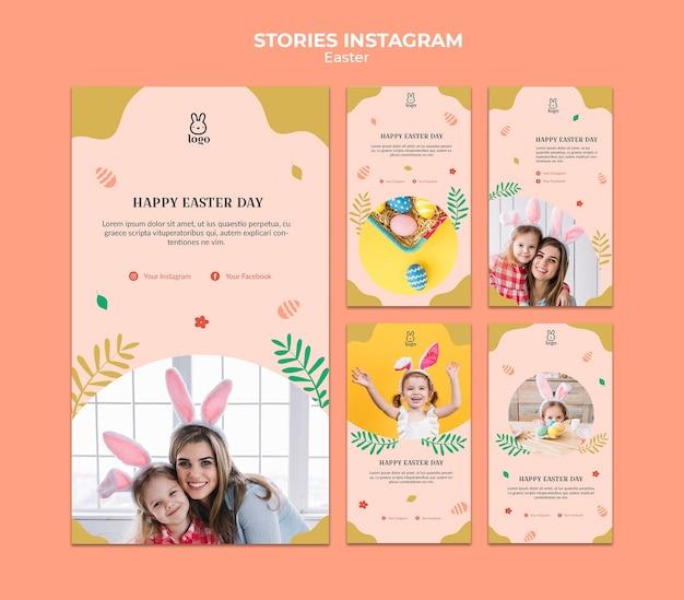 Historias de instagram del festival del día de pascua