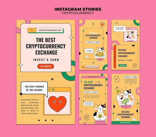Historias de instagram de intercambio de criptomonedas