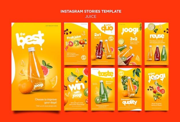 Historias de instagram de jugo orgánico