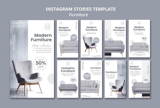 Historias de instagram de muebles