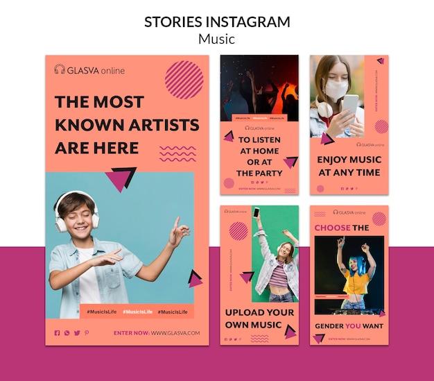 Historias de instagram de música