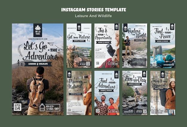 Historias de instagram de ocio y vida silvestre