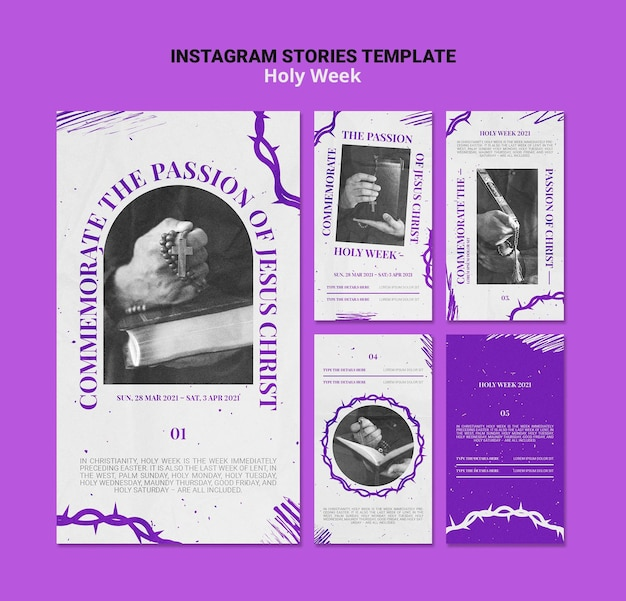 Historias de instagram de semana santa con foto