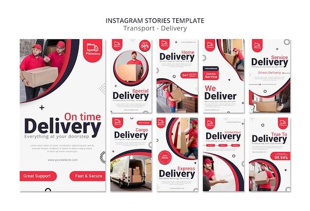 Historias de instagram de servicio de entrega