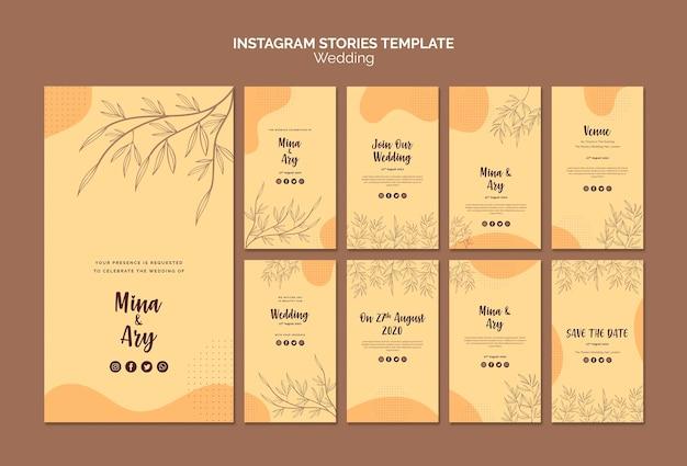Historias de instagram con tema de boda