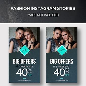 Historias de moda de instagram