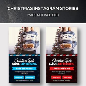 Historias navideñas de banner de redes sociales