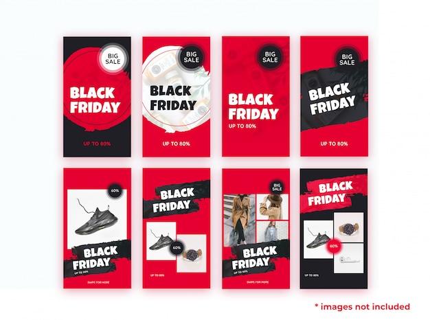 Historias de plantillas del viernes negro
