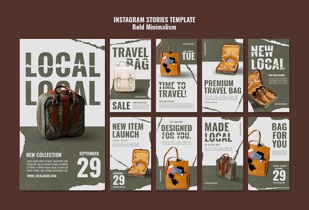 Historias de redes sociales de bolsa de viaje