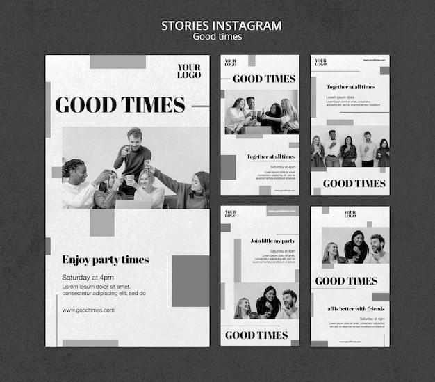 Historias de redes sociales de buenos tiempos