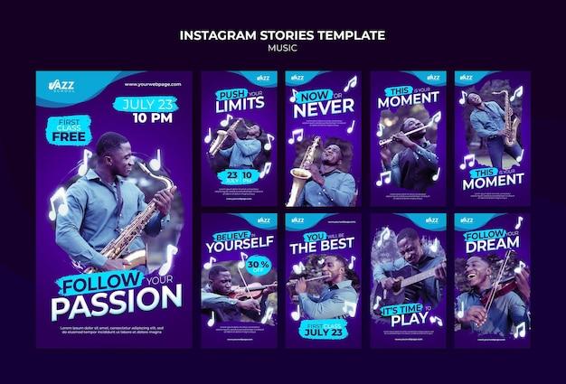 Historias de redes sociales de conciertos de jazz