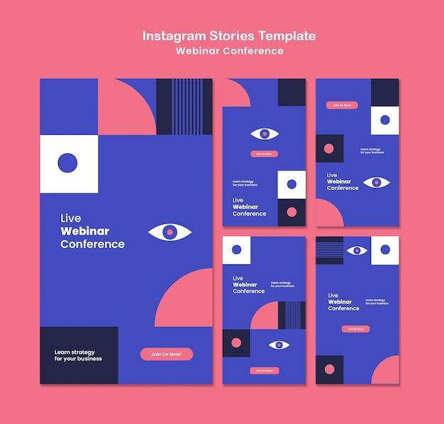Historias de redes sociales de la conferencia webinar