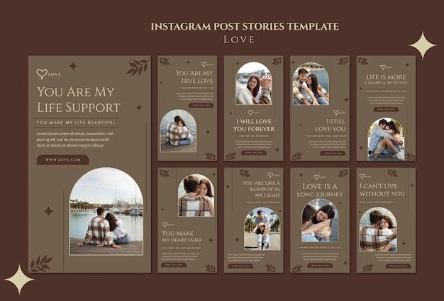 Historias de redes sociales de pareja encantadora