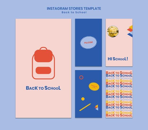Historias de redes sociales de regreso a la escuela