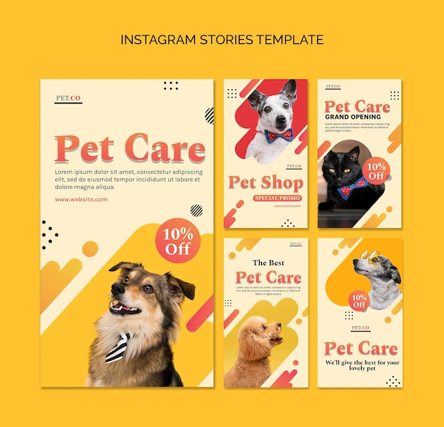 Historias de redes sociales de tiendas de mascotas