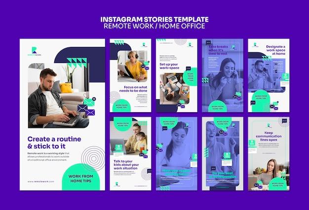 Historias de redes sociales de trabajo remoto