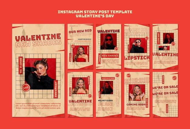 Historias de san valentín en instagram