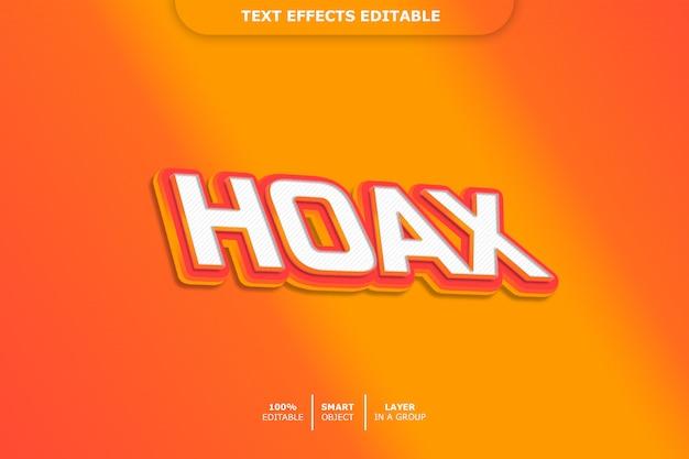 Hoax 3d-tekststijleffect