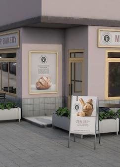 Hoekmodel voor winkel buitenshuis