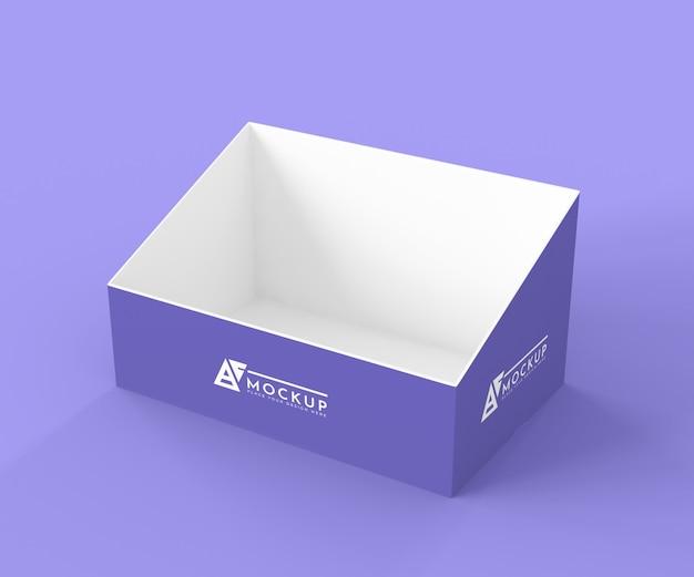 Hoge hoek creatieve paarse exposant mock-up