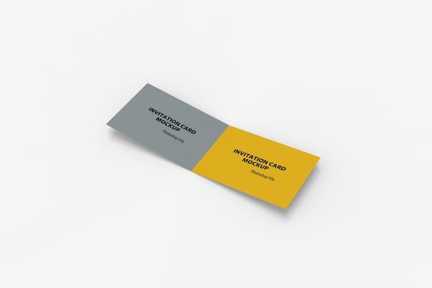 Hoge hoekmening van tweevoudig uitnodigingskaartmodel