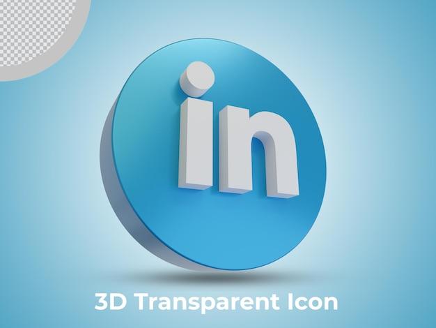 Hoge kwaliteit linkedin geïsoleerde 3d icon