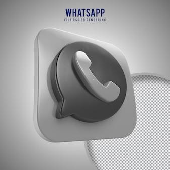 Hoge kwaliteit whatsapp 3d-gerenderde icoon