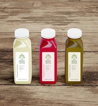 Hoge weergave gezond eten smoothies voor detox concept