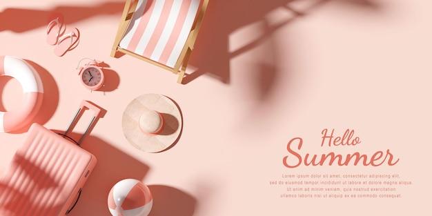 Hola plantilla de diseño de verano