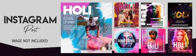 Holi festival instagram postbundel