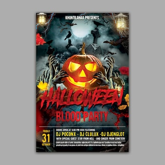 Holloween party flyer